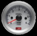 Autogauge - Omdrejningstæller - Hvid - 52mm. - Diesel