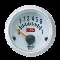 Autogauge Olietryksmåler - Hvid