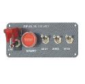 Tændingspanel m. startknap og 3 ekstra ON/OFF kontakter