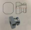 Flat sided Brake Locator M10x1.0