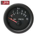 Autogauge Olietryksmåler - Sort