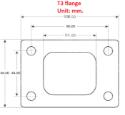 T3 turbo flange Alm. - SS304