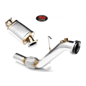 Downpipe BMW E60, E61 - M57N - 525d, 530d - with silencer