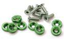 8 x M6x20 Stål bolte + skiver - Grøn