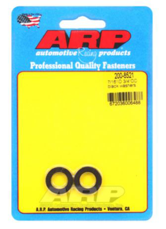 ARP 7/16in ID 3/4inOD Black Washer (Pack of 2)