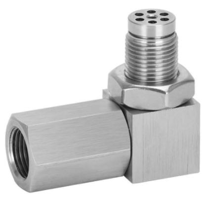 Lambdasondeudtag 90 graders - (M18x1.5) - Med mini katalysator